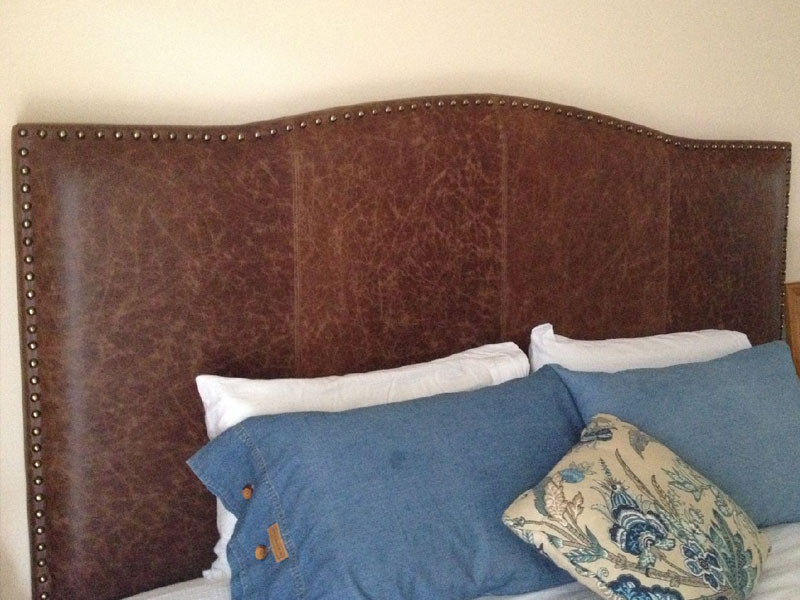 Custom Upholstery - Leather Bedhead