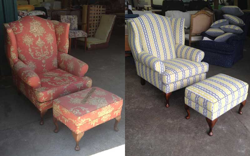 Restoration & Reupholstery - Wingback Chair