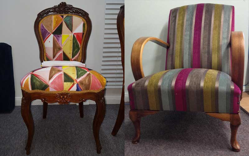 Restoration & Reupholstery - Upcycled Chairs
