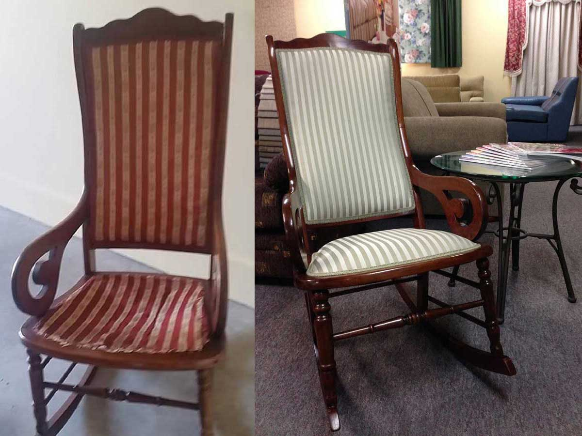 Project 006 - Heirloom Rocking Chair - Domestic Furniture Restoration & Reupholstery
