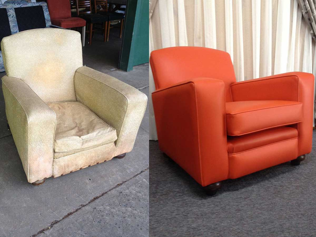 Project 014 - Club Chair - Domestic Furniture Restoration & Reupholstery