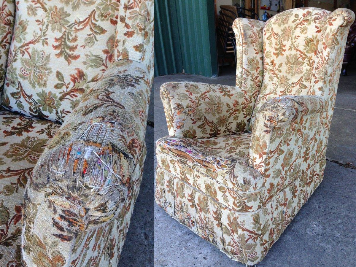 Project 003 - Wingback Armchair - Domestic Furniture Restoration & Reupholstery