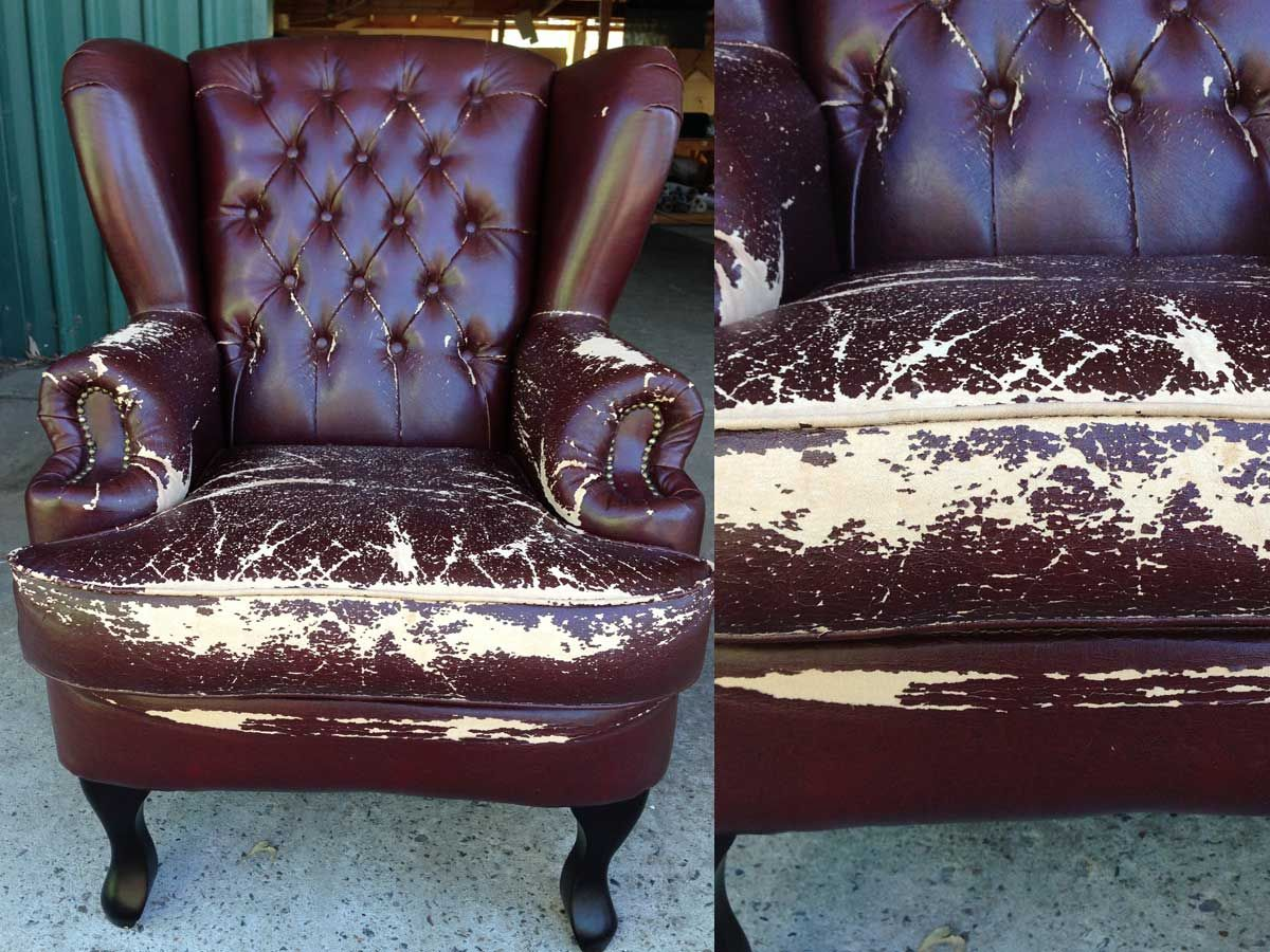 Project 004 - Chesterfield Wingback Armchair - Domestic Furniture Restoration & Reupholstery