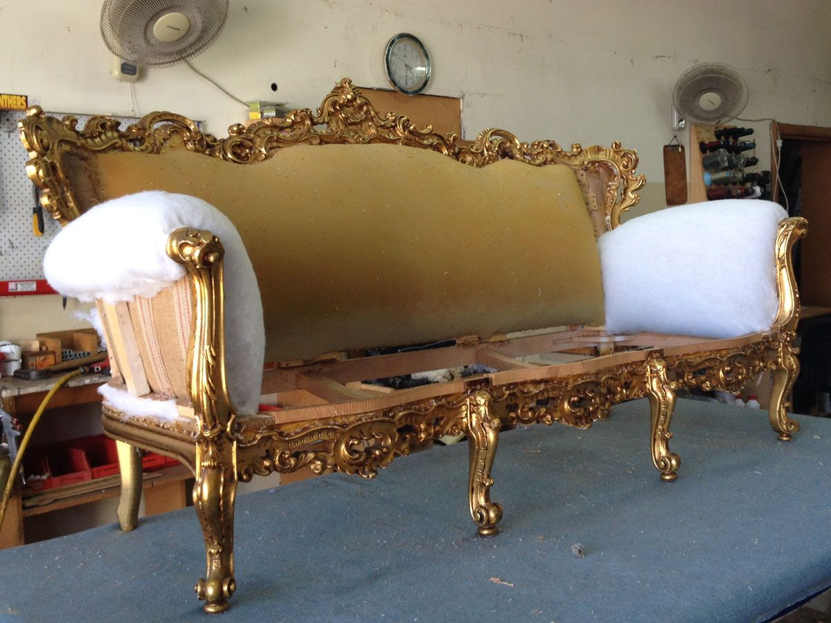 Project 015 - Baroque Suite - Domestic Furniture Restoration & Reupholstery