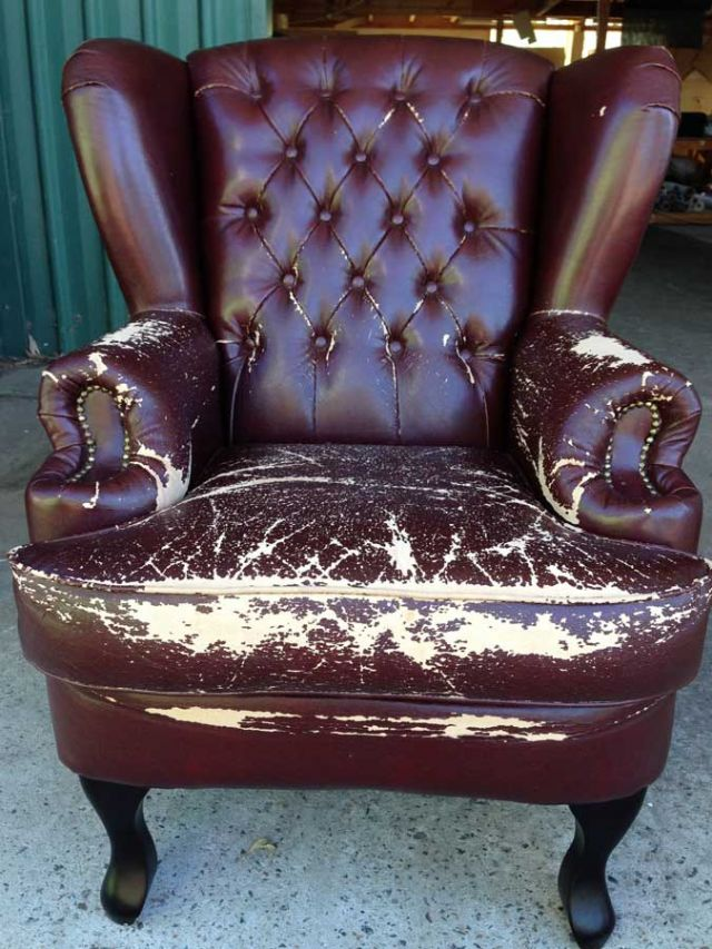 Old Wingback Armchair - furniture restoration, reupholstery - Windsor, Hawkesbury, Western Sydney
